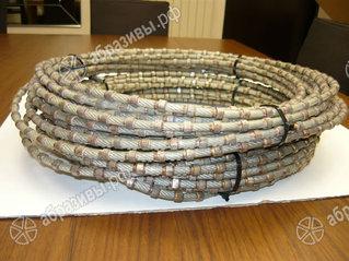 Канат алмазный по граниту 8,2мм 37 перлин/м
