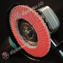 Круг лепестковый зачистной по алюминию 125мм