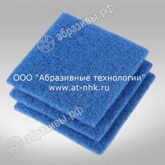Абразивные салфетки 133*133*8 голубая, для деликатных поверхностей
